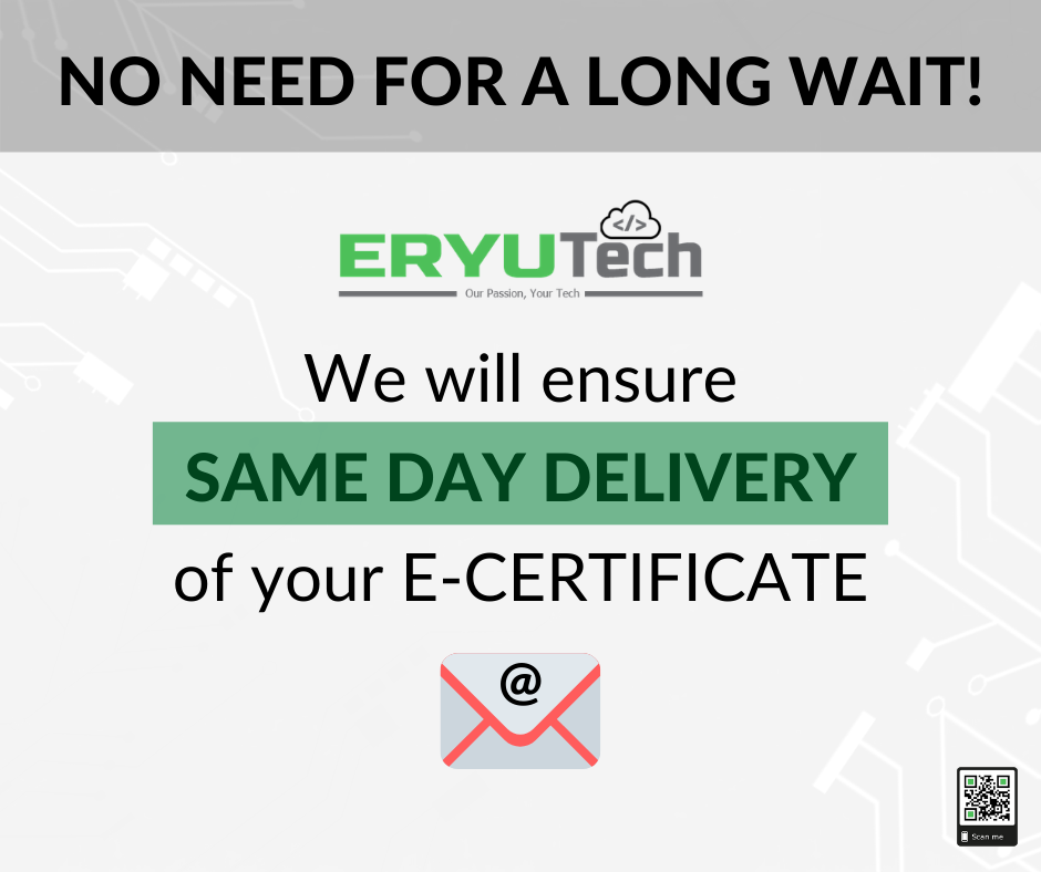 SAME DAY DELIVERY of your webinar E-Certificate via email